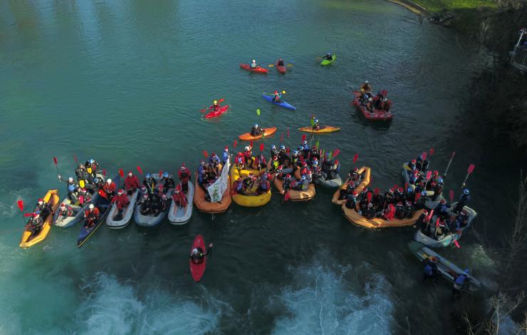 Božićni rafting na Mrežnici