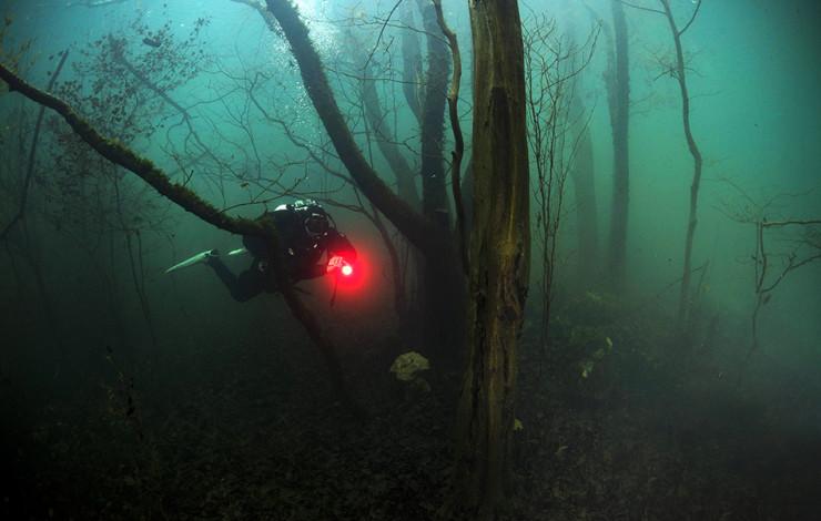 Ronjenje u jezeru Ponikve